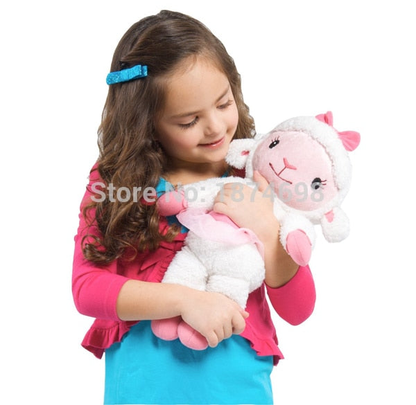 New Doc McStuffins Lambie Lamb Stuffy Dragon Hallie Hippo Plush Stuffed Animals Large 35cm Kids Toys for Girls Gifts