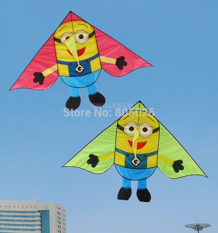only 9.9$ free shipping high quality lovwly Minions kite children kites with handle line outdoor toys kites flying toys resin