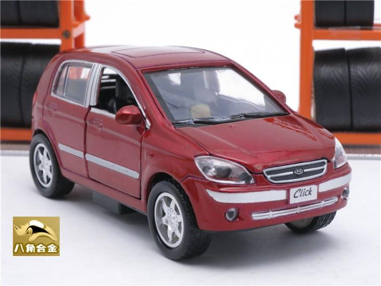 11CM Length Diecast Hyundai Getz/Click Model, Kids Toys Cars, Boys Gift With Pull Back Function/Music/Light/Openable Door