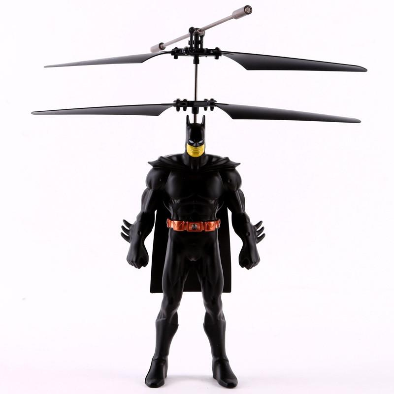 Suspension Induction Flight The Avengers Batman Helicopter LED Lighting Drone Remote Induction Control Aircraft Kids Gif Toys