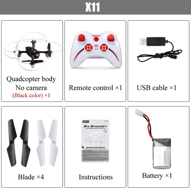 Syma X11 4CH 2.4GHz Mini Quadcopter without Camera HD Micro Drone Pocket Quadrocopter Aircraft RC Helicopter Kids Toys Dron