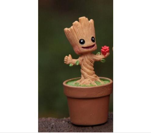 In Stock Brinquedos Guardians Of The Galaxy Mini Cute Groot Model Action And Toy Figures Cartoon Movies And TV P313