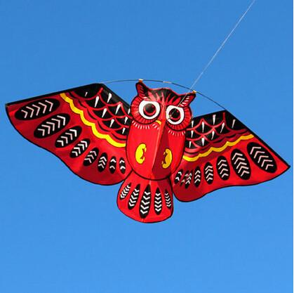 NEW High Quality  Bird Kites / Owl Kite Easy Control With Handle Line Kid Kite Sale  String Outdoor Toys