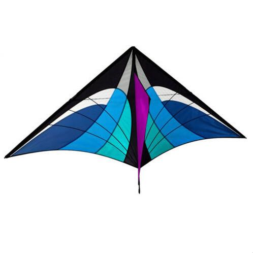 New Toys 5.2ft High Quality  Power Single  Line Blue Triangle Kite With Handle And Line Good Flying Hot Sale