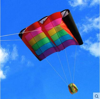 Outdoor Fun Sports  Rainbow Colorful Birds Wing Weifang Kite Flying Umbrella Cloth Easily The Most Beautiful Sky