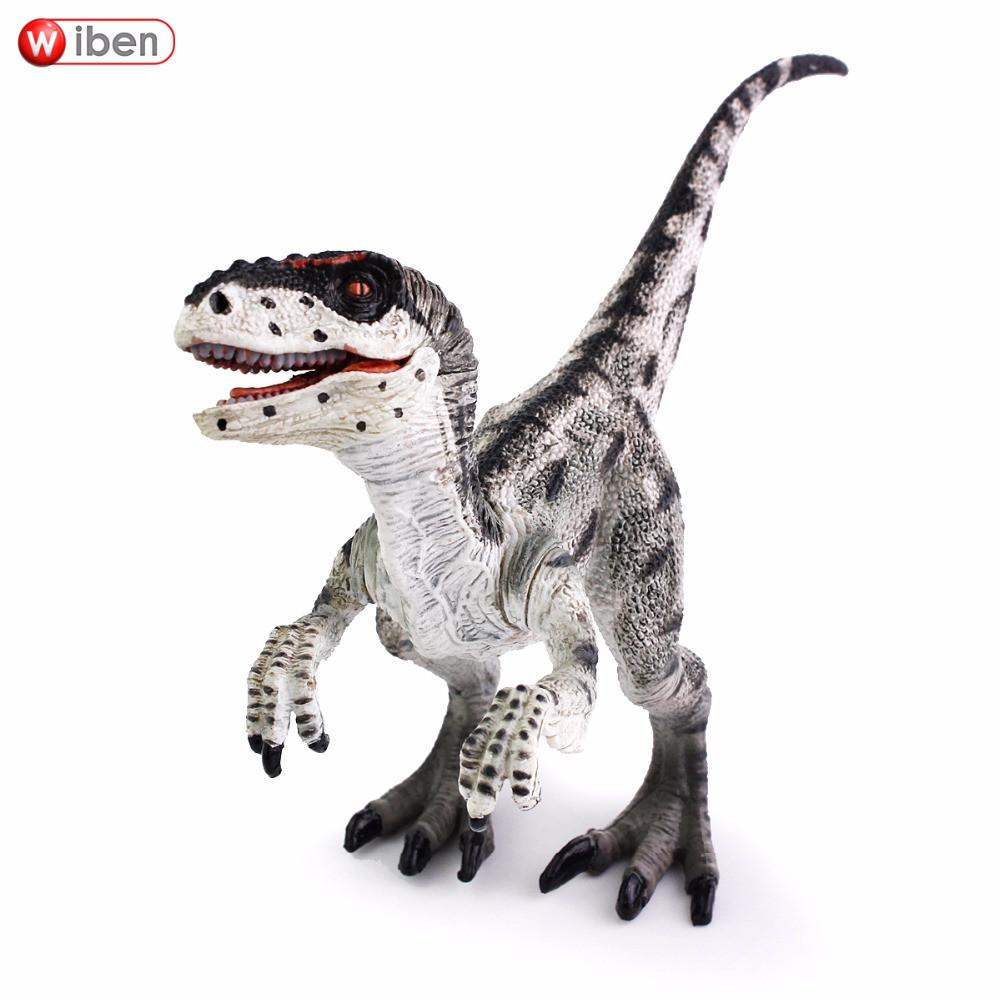 Wiben Jurassic Velociraptor Dinosaur Action & Toy Figures Animal Model Collection Learning & Educational Kids Christmas Gift