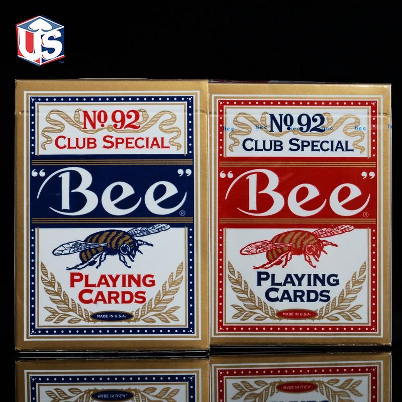 1 Deck Genuine BEE Playing Cards No 92 Original Playing Cards Club Special Bee Poker Cards Magic Tricks Magic Toy Red Or Blue