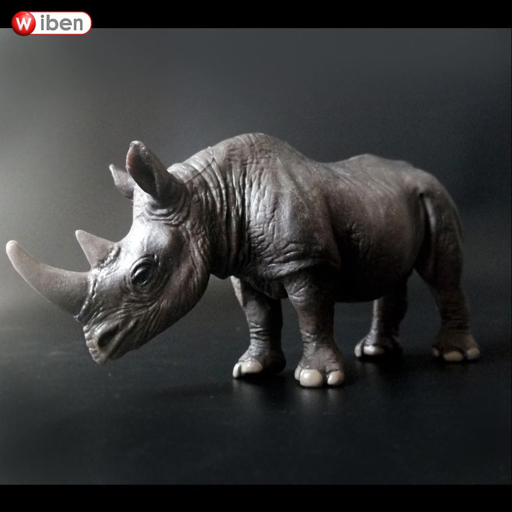 Simulation Animals Rhinos Action Figures Model Kids Toy Learning & Education Collectible