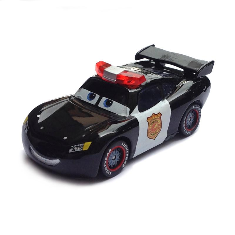 Pixar Cars Police Lightning Mcqueen Diecast Metal Cute Cartoon Movie Toy Car For Children Gift 1 55 Loose Brand New In Stock