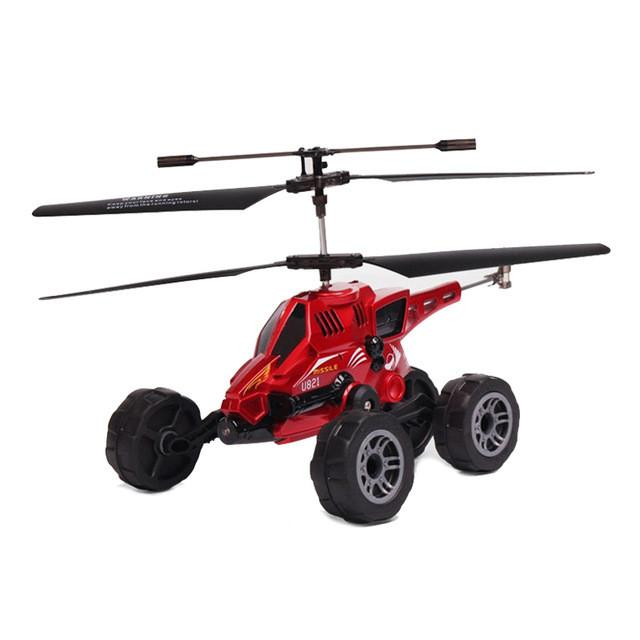 RC Drone UDI U821 RC Helicopter Quadcopter 3.5CH multi-purpose vehicles flying fired missiles Control driving on land flying Car