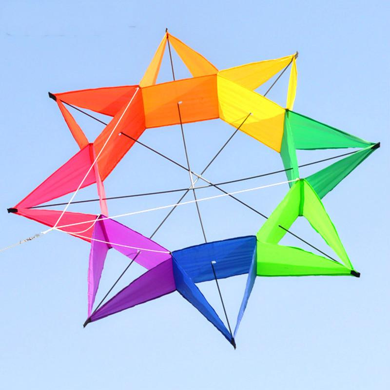 New Three-Dimensional Octagonal Rainbow Kite Creative Personality Kite Stereo Flying Kite Ffor Children & Adults