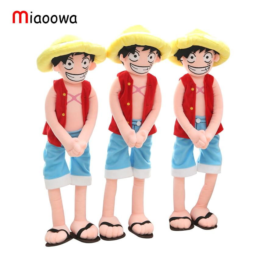 Selling Item 1pcs 80cm Cartoon Suffed Doll Monkey D Luffy Japan Anime Toy Kawaii Plush Toy For Kids