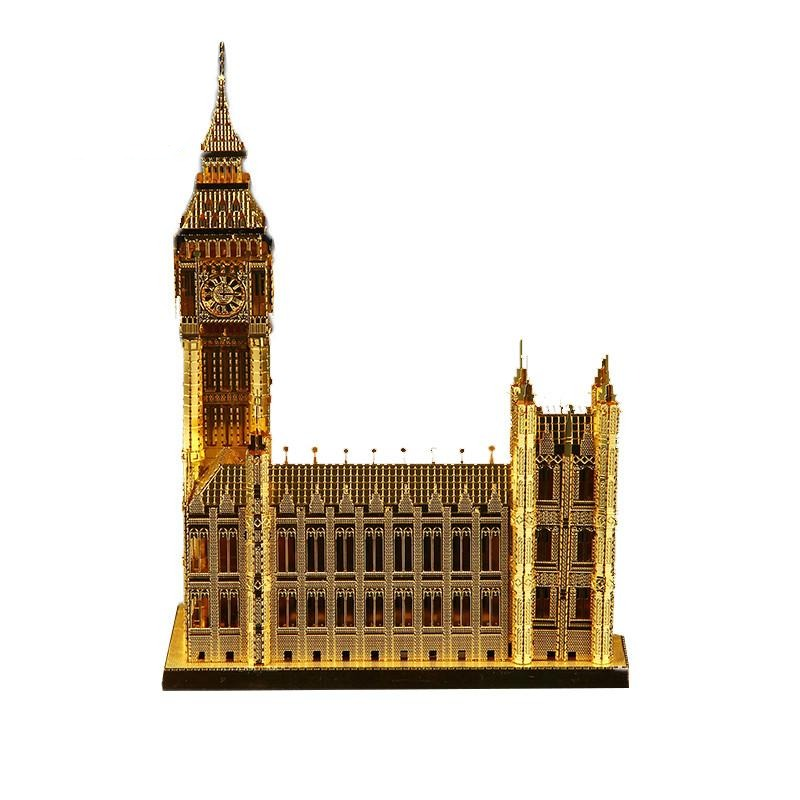 Null3D Metal Puzzle Famous Building Big Ben Gold Adult Puzzle Puzzle Mini Model Funny Child Education Toys Children Toys Gifts