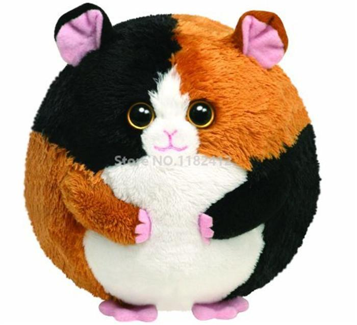 Ty Plush Animals Beanie Ballz Speedy Hamster Mouse Big Eyes Stuffed Animals 12cm Cute Plush Ball Baby Kids Toys for Children