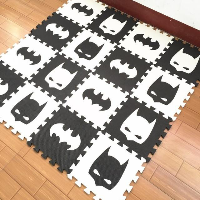 superma/Iron Man/batma/EVA foam puzzlen/baby play mat foam play Puzzle mat / 10pcs/lot Interlocking Exercise TilesEach 30cmX30cm