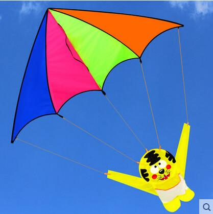 New High Quality  Tiger  Kite / Tigers Parachute Carton kites With Handle And Line Good Flying  So Cute