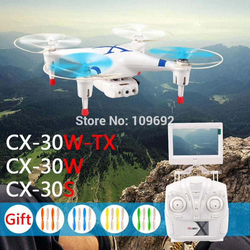 Original Cheerson FPV Quadcopter CX-30W CX-30W-TX CX-30S Real-Time Helicopters 6-Axis 4CH RC Drones WIFI HD Camera VS H107D H11D