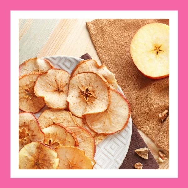 Baked apple chips, healthy chip option, healthy chip alternative