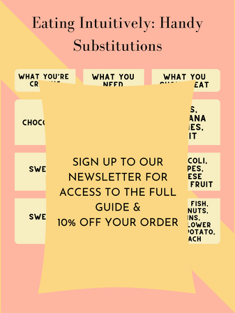 sign up to our newsletter for access to the full guide and 10% off your order