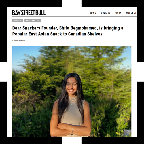 bay street bull article cover of our founder, shifa.