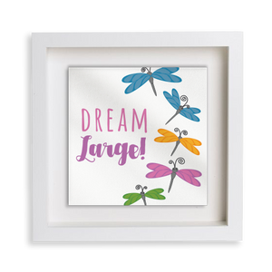 Dream Large Dragonfly Happy Frame