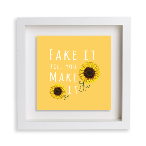 Sunflower Happy Frame