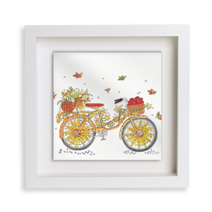 Fall Bicycle Happy Frame