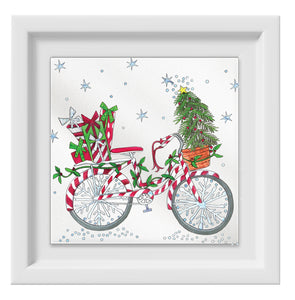 Christmas Bicycle Happy Frame