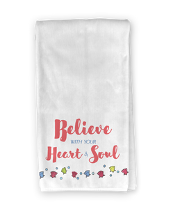 Beach Bicycle Heart & Soul Kitchen Towel