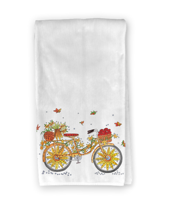 Fall Bicycle Kitchen Towel