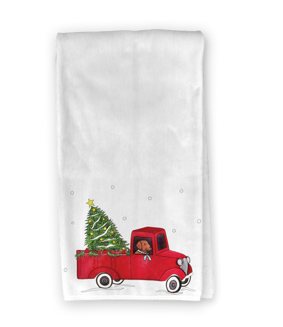 Christmas Truck Kitchen Towel