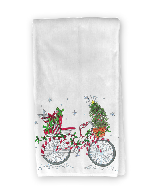 Christmas Bicycle Kitchen Towel