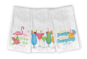 Tropical Drinks Kitchen Towel Set - Save 23%