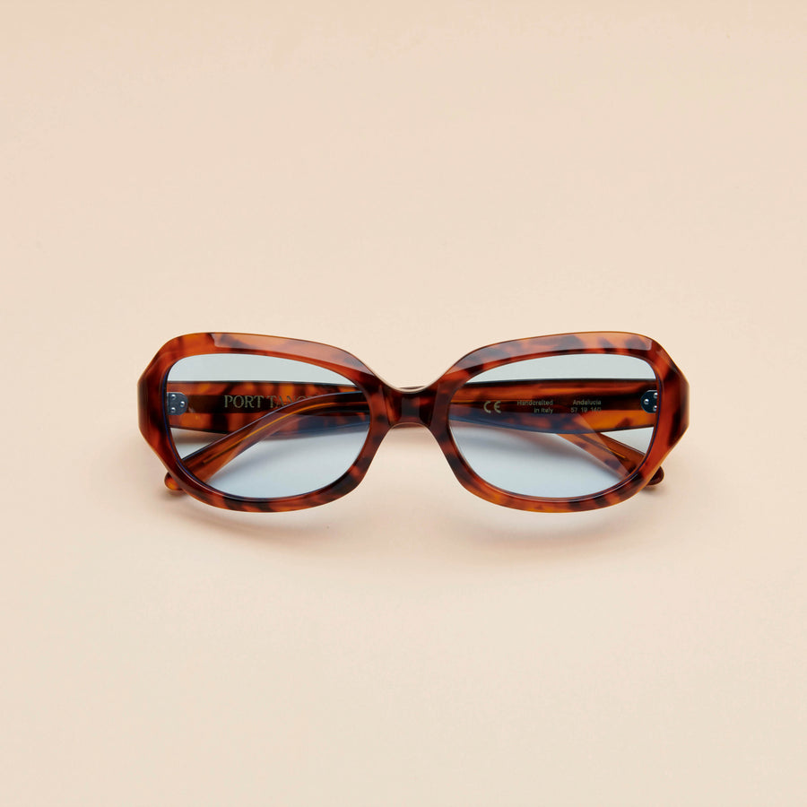 Andalucia | Light Tortoise Acetate | Rif Blue Lens