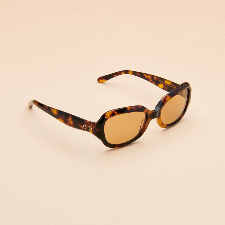 Andalucia | Dark Tortoise Acetate | Light Brown Lens