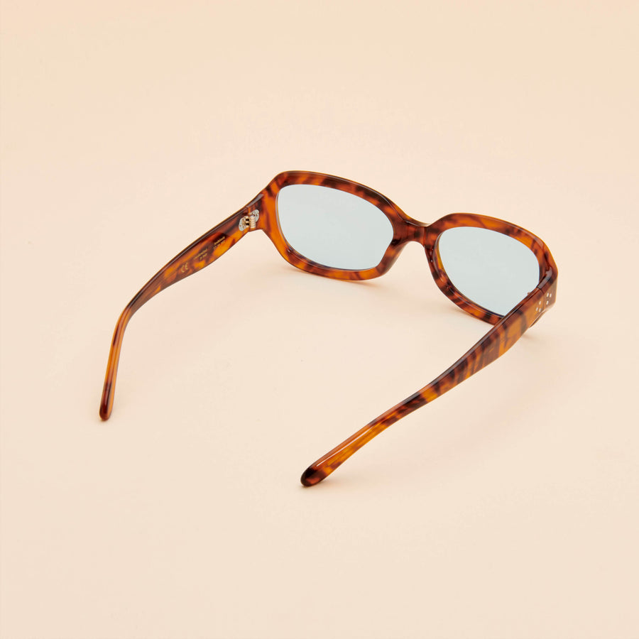 Andalucia | Light Tortoise Acetate | Blue Lens