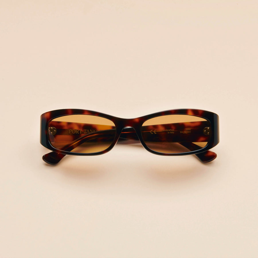 Leila | Dark Tortoise Acetate | Brown Lens