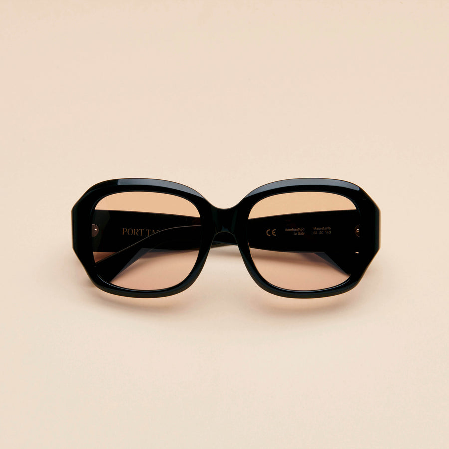 Mauretania | Black Acetate | Brown Lens