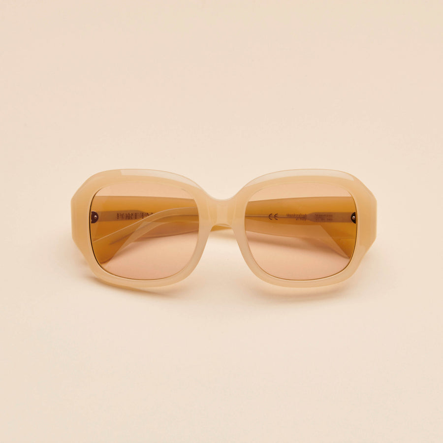 Mauretania | Ivory Cream Acetate | Light Brown Lens