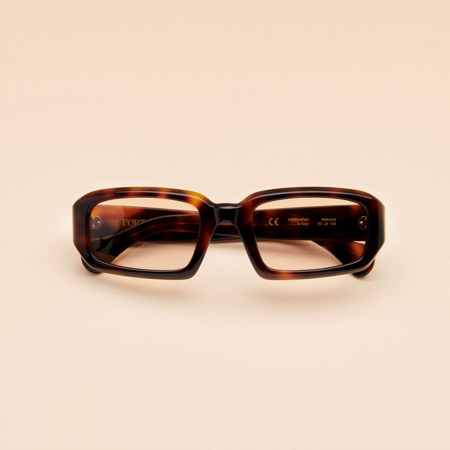 Mektoub | Dark Tortoise Acetate | Brown Lens