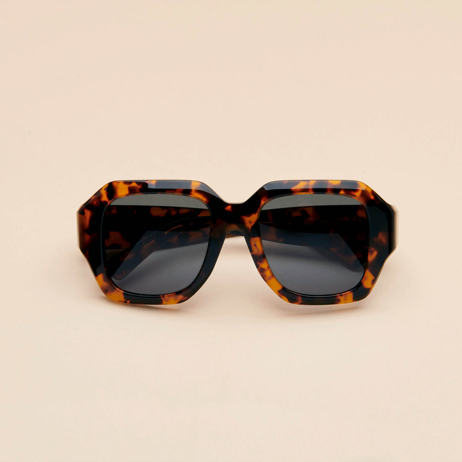 Noor | Dark Tortoise Acetate | Dark Green Lens