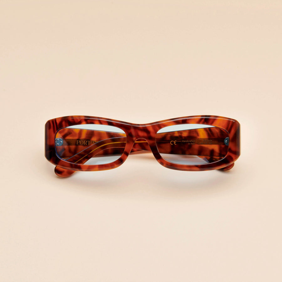 Saudade | Light Tortoise Acetate | Blue Lens