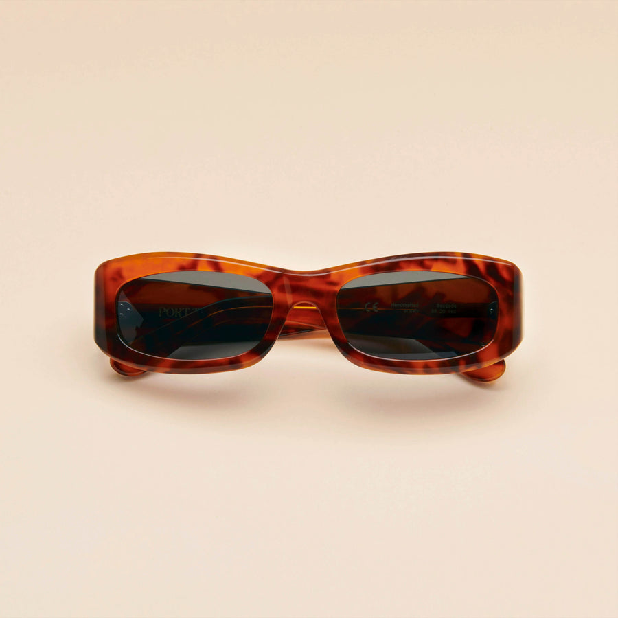 Saudade | Light Tortoise Acetate | Dark Green Lens