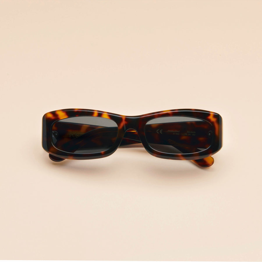 Saudade | Dark Tortoise Acetate | Dark Green Lens