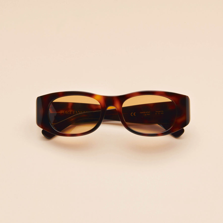 Tangerine | Dark Tortoise Acetate | Brown Lens