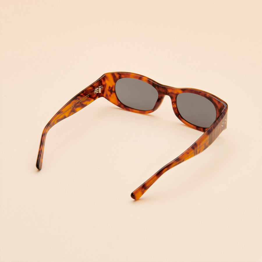 Tangerine | Light Tortoise Acetate | Dark Green Lens