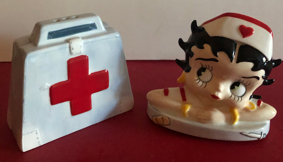 Betty Boop Nurse Salt & Pepper Shakers