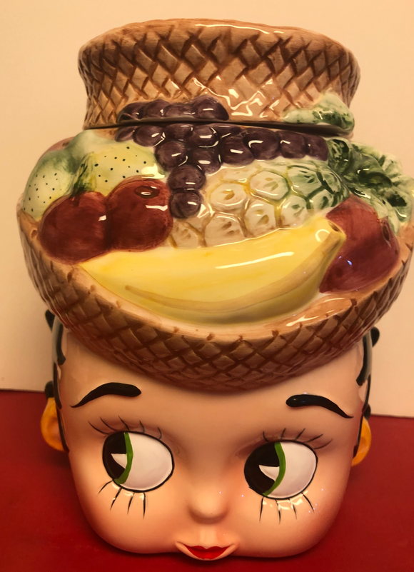 Betty Boop Carman Meranda Fruit Hat Cookie Jar