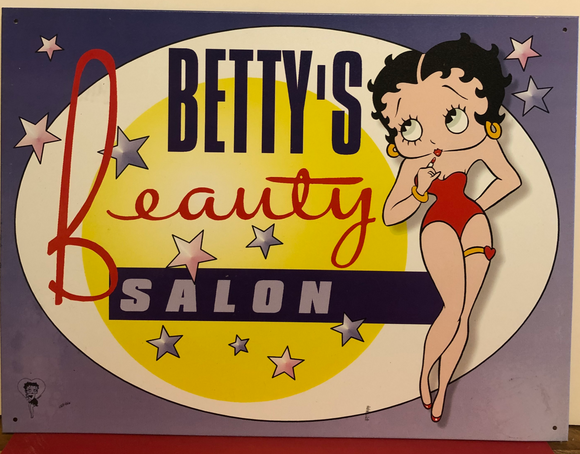 Betty Boops Beauty Salon Tin Sign