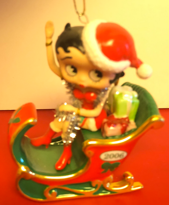 Betty Boop 2006 Betty in a Sleigh Ornament